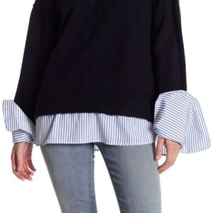 Topshop | Supersoft Stripe Hybrid Knitted Top